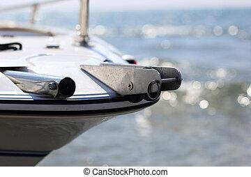 Speedboat close up - Brand new speedboat close up
