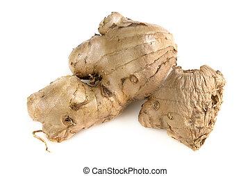 Ginger Root Over White