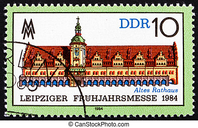 Postage stamp GDR 1984 Old Town Hall, Leipzig - GDR - CIRCA...