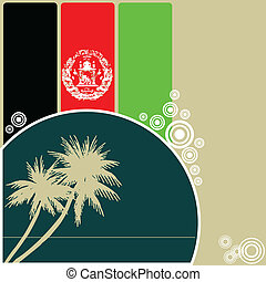 Abstract background of Afghanistan