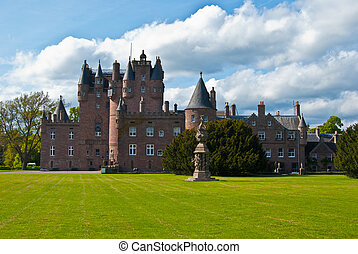 Glamis castle - famous castle of Glamis in the highlands of...
