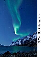 aurora, borealis, (Northern, lights)