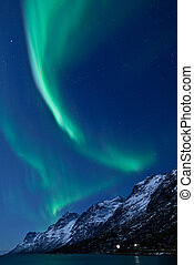 Northern lights Aurora Borealis - A high resolution image of...