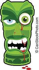 Zombie Tiki - Zombie undead tiki totem vector illustration...