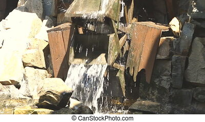 old dutch water mill wheel