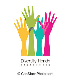 cultural and ethnic diversity - hands of different colors...