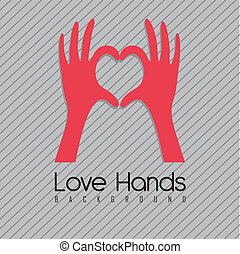 hands forming a heart - illustration of hands forming a...