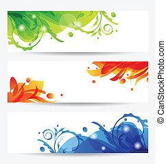 Set brochure templates with flower frames