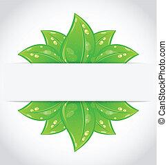 Bio concept design eco friendly banner
