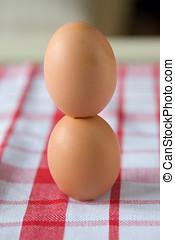 Empilhado, ovos