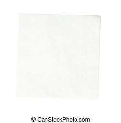 Paper napkin - Paper Napkin on white background