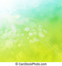 Spring or summer abstract background