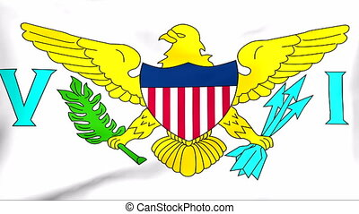 Flag Of United States Virgin Islands - Developing the flag...