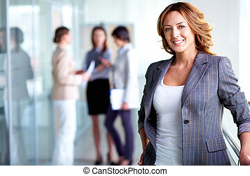 Positive look - Business lady with positive look and...