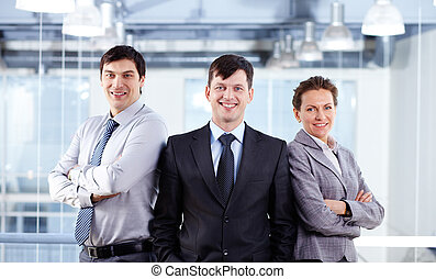 Business musketeers - Portrait of three confident business...