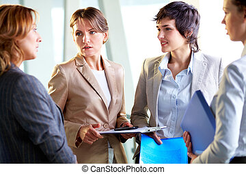 Concerned businesswoman - Female leader of the business team...