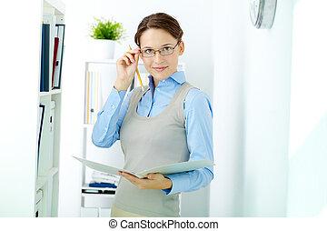 White collar worker - Portrait of elegant businesswoman...