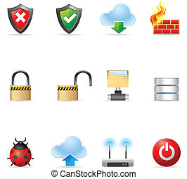 Web Icons - Computer Network - Computer network icon set EPS...