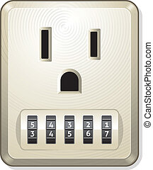 Electric Outlet - Vector illustration of electric outlet...