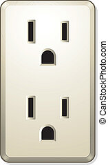 More Electric Outlet - Vector illustration of electric...