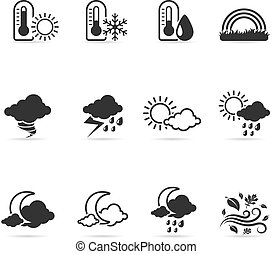 Single Color Icons - More Weather - More weather icon set in...