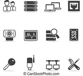 More Computer Network Icons - Computer network icon set in...