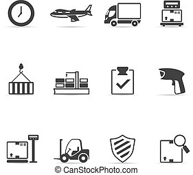 Single Color Icons - More Logistic - Logistic icon set...