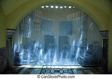Travel Photos of Israel - Acer Akko - Turkish Hammam bath in...