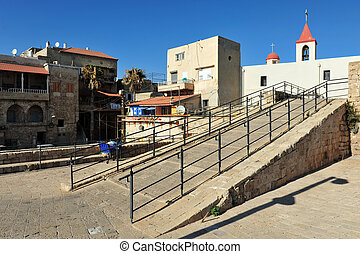 Travel Photos of Israel - Acer Akko - Street scene of Acre...