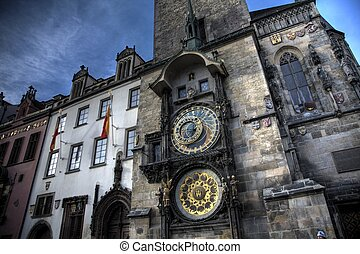 The Astronomical Clock - the astronimical clock on the old...