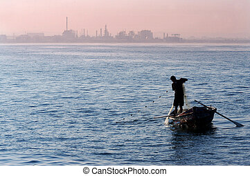 Travel Photos of Israel - Acer Akko - Fisherman at the...