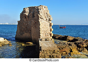 Travel Photos of Israel - Acer Akko - The ancient walls Acre...
