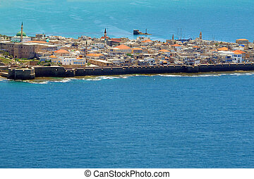 Travel Photos of Israel - Acer Akko - Aerial view of Acre...