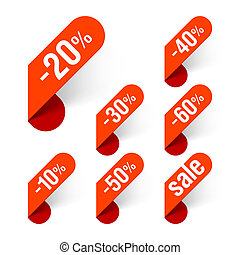 Discount labels vector illustration
