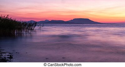 Balaton - Beautiful sunrise over the lake (Balaton,Hungary)