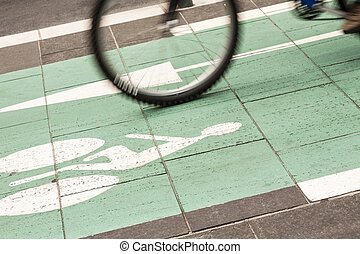 easy biking - road signs show the direction in driving