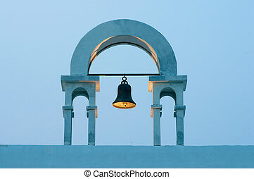 vintage belfry in greek style