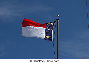 An North Carolina Flag - A high flying North Carolina Flag...