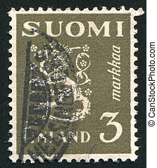 Coat of arms of Finland - FINLAND - CIRCA 1930: stamp...