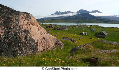 Igaluku - The small town Igaluku in South Greenland