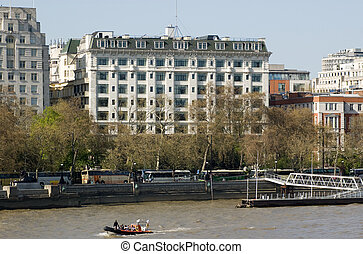 Savoy Hotel, London - View of the historic Savoy Hotel in...