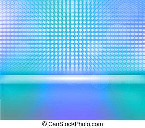 Blue LED Spotlights Stage Background