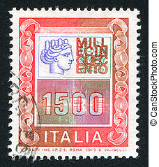 symbolize Italia - ITALY - CIRCA 1977: stamp printed by...