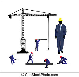 construction site vector illustration