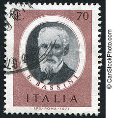 Eduardo Bassini - ITALY - CIRCA 1977: stamp printed by...