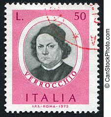 Andrea del Verocchio - ITALY - CIRCA 1973: stamp printed by...