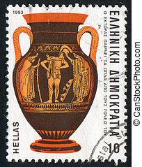 Hector - GREECE - CIRCA 1983: stamp printed by Greece, shows...