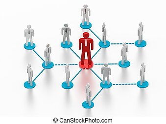 Business Network - Rendered artwork with white background