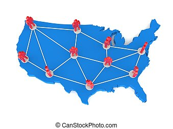 USA Networking Map