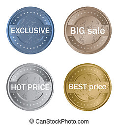 special grunge product labels for your market